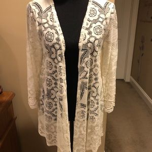 Maurices Lace Kimono Cardigan